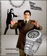 Jaws Promotes his 007 Villains Swatch Watch