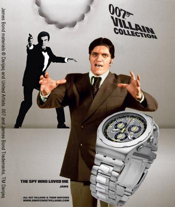Bond Villain Swatch Watch Collection Jaws