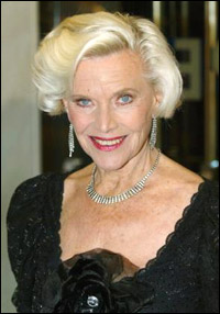 Honor Blackman (Pussy Galore in Goldfinger) in 2008