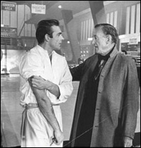 Sean Connery and Ian Fleming on the set of Dr. No