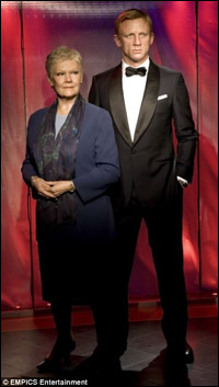 Daniel Craig and Judi Dench in Wax