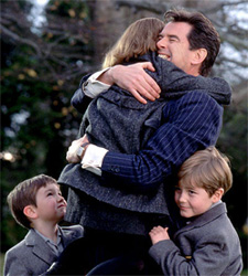 Pierce Brosnan with children...it just looks wrong if he's 007