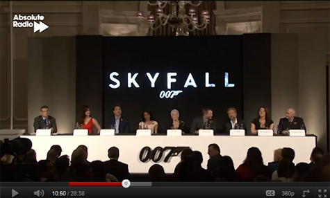 View the Skyfall press conference