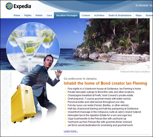 Expedia.com's Ian Fleming retreat