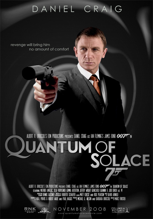 James Bond Movies: Quantum of Solace Poster Contest ...