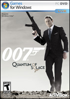 Quantum of Solace Video Game Box Art - PC DVD