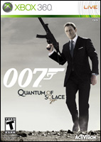Quantum of Solace Video Game Box Art - Xbox 360
