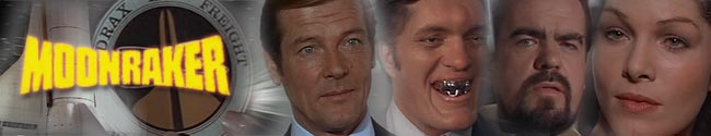 James Bond Movie Header Fan Art - Moonraker