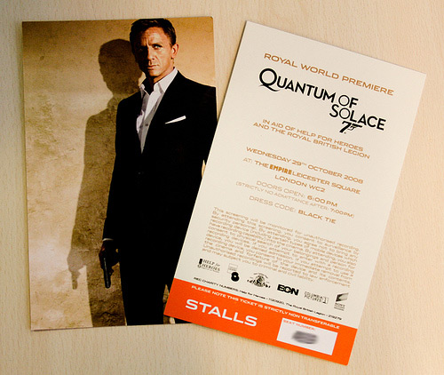james bond movies quantum of solace royal world premiere