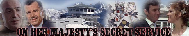 James Bond Movie Header Fan Art - On Her Majesty's Secret Service