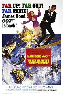 On Her Majesty's Secret Service - James Bond Movie Poster