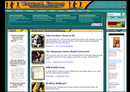 Visit the classic Universal Exports