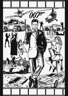 James Bond fan art by Kostas Fragiadakis