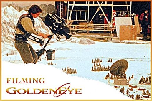 Filming GoldenEye at Leavesden Studios