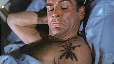 Sean Connery's tarantula scene in Dr. No