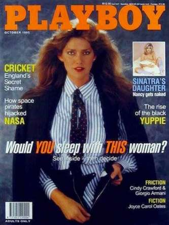 Caroline Cossey on the cover of Playboy