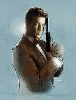 Pierce Brosnan as 007 - by Jeff Marshall