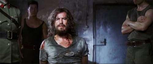 Pierce Brosnan's James Bond being tortured in Die Another Day