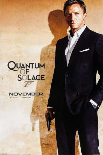 British One Sheet for Quantum of Solace