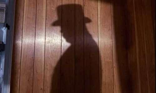 Oddjob's shadowy introduction